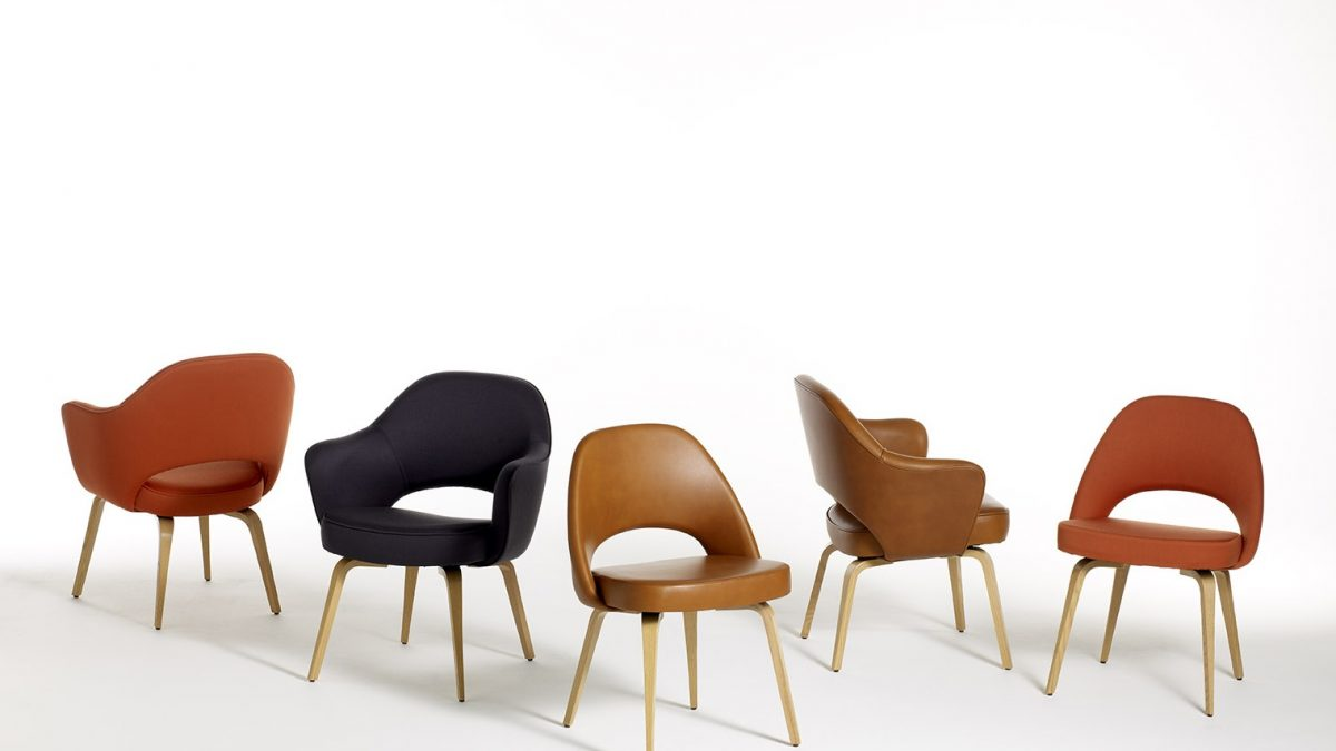 Saarinen chair with 5 types of floor coverings and patterns